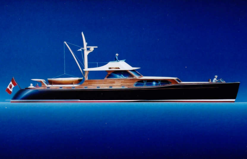 Boat Plans Blueprint in addition Express muter Boat as well Mini 650 ...