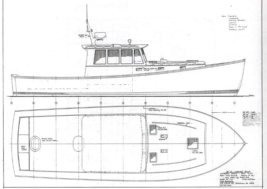 Wooden lobster boat plans geno Blueprints for sale