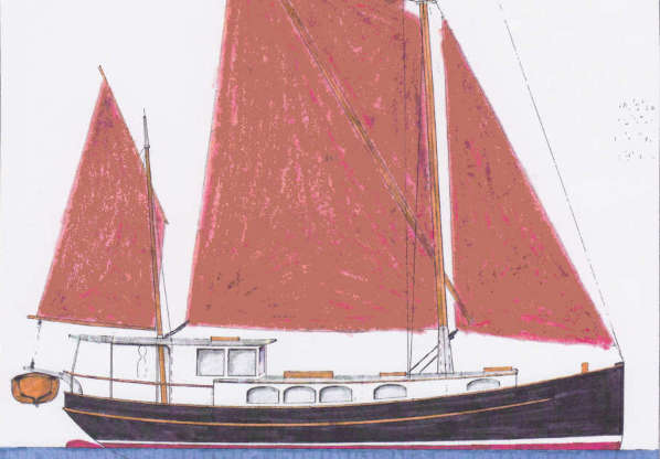 48' Steel Sailing House Barge ~ Sail Boat Designs by Tad ...