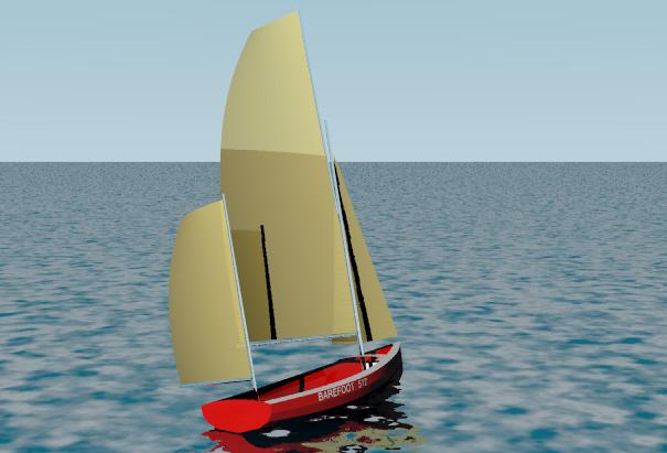 Barefoot 517 Raid Boat Sail and Oar Boat Tad Roberts