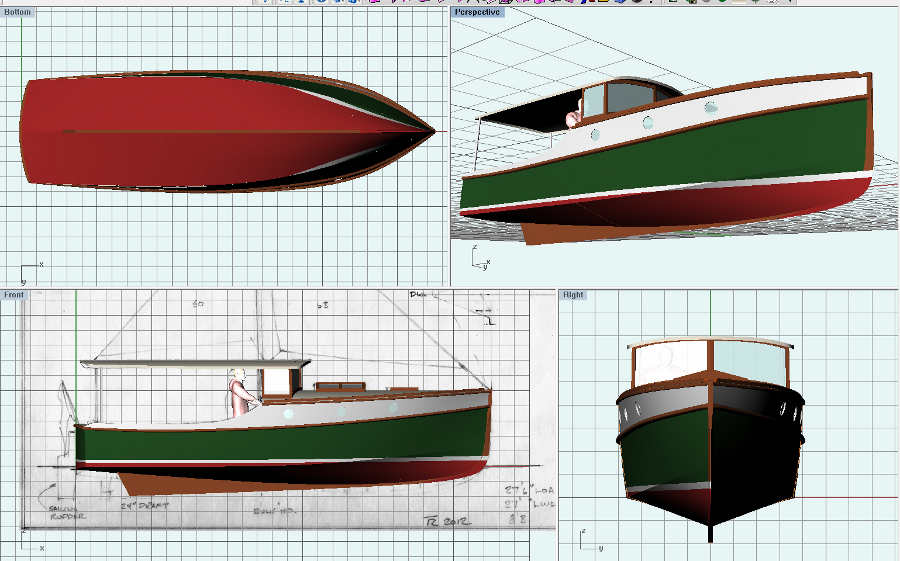 Wedge Point 27, Semi-displacement Trailerable Classic ...