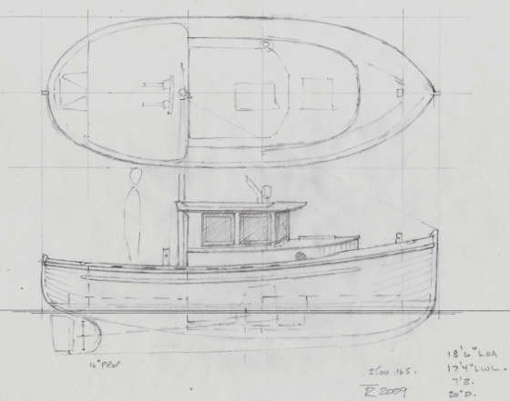 Detail Plywood displacement boat plans | Antiqu Boat plan