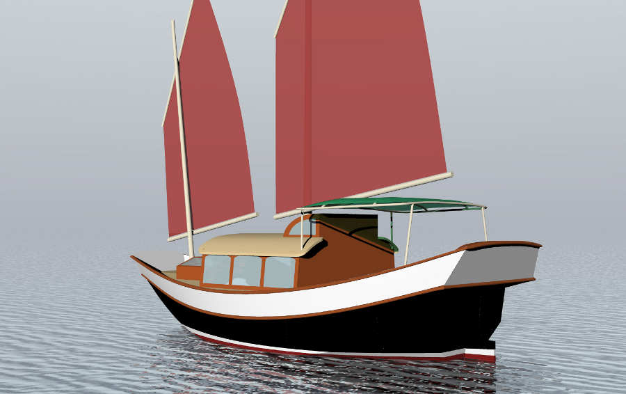 Small Motorsailer Plans Images