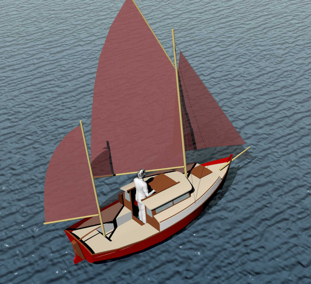 Kicking ideas for build small motor sailer for Motor sailer boat plans