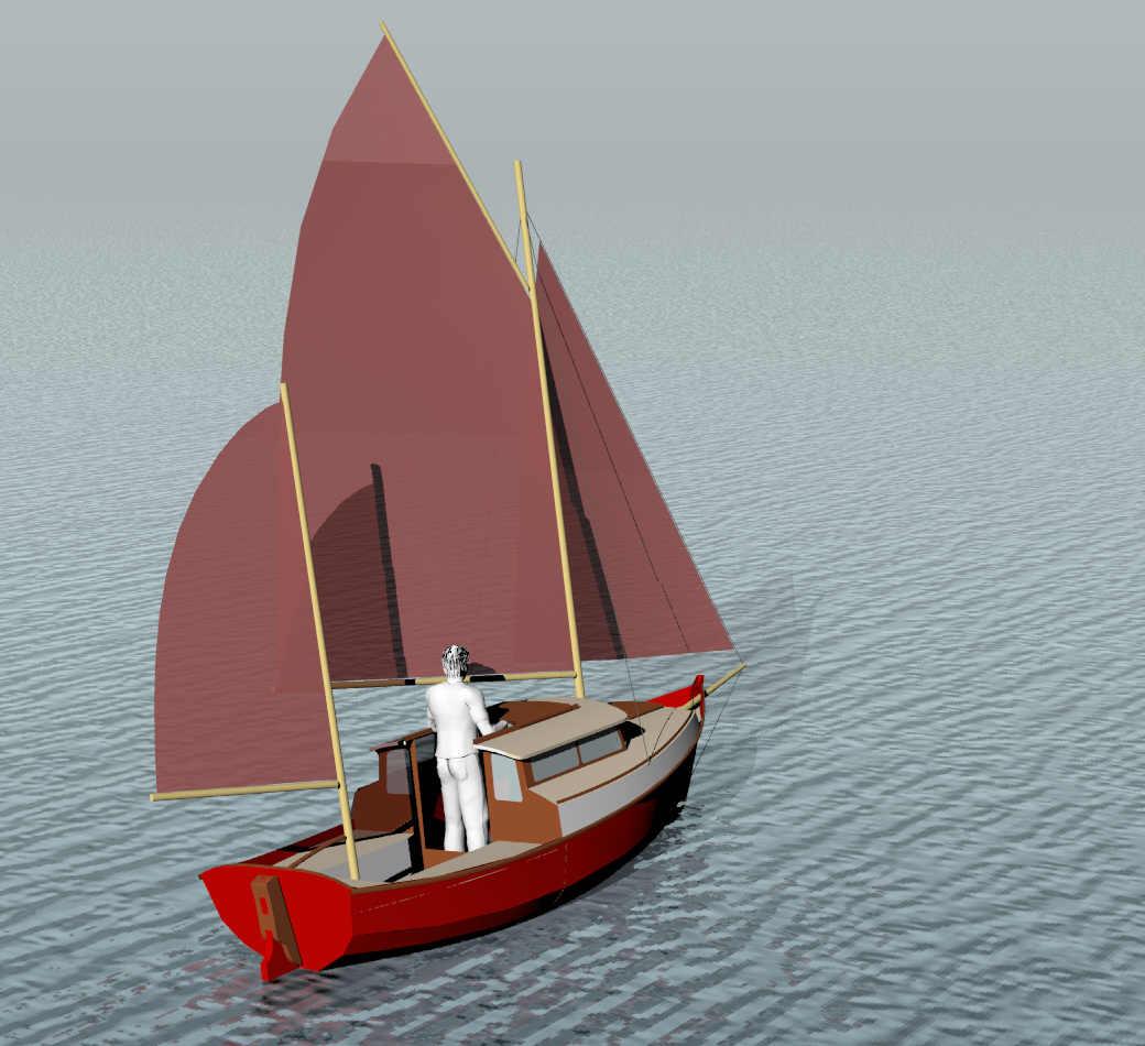 Pogy 17 Motorsailer Sail Boats Under 29 Small Boat
