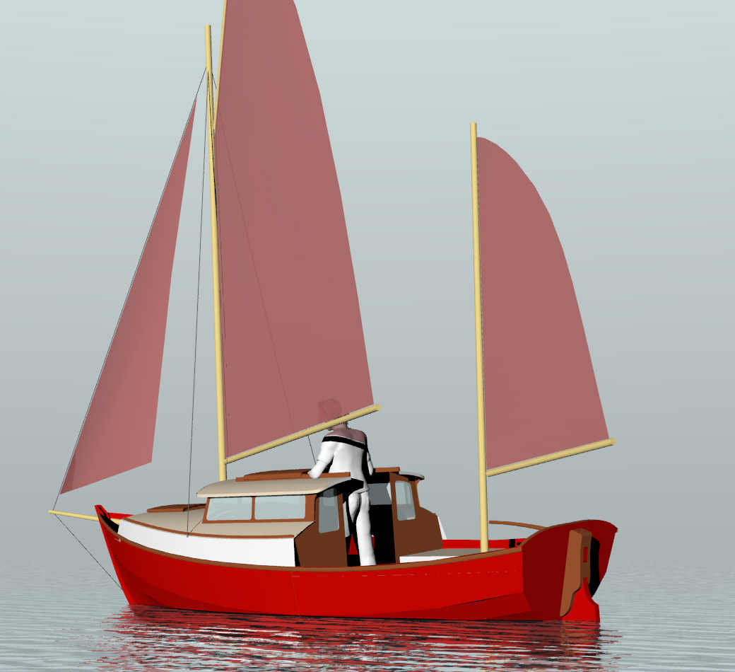 Pogy 17 Motorsailer Sail Boats Under 29 Small Boat