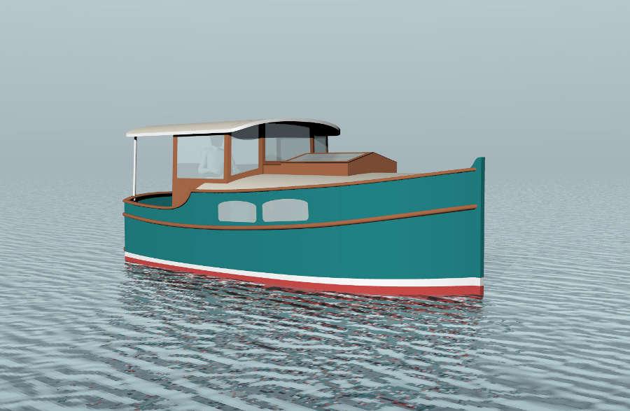 Cruising Shanty 20 20 Trailerable Outboard Shanty Boat