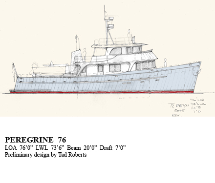 Peregrine Trawlers, 46, 58, 66, 76, 86 ~ Power Boat Designs by Tad