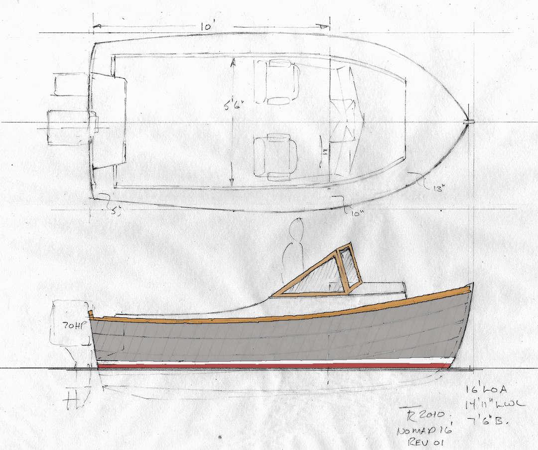 Lapstrake power boat plans | Varas